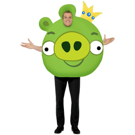 Fato de porco rei de Angry Birds para adulto