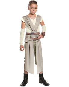 Fato de Rey Star Wars Episódio VII classic para menina