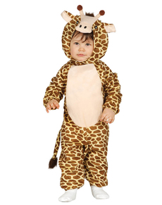 Fato de girafa macia para bebé